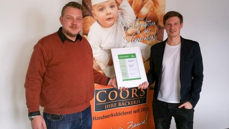 Sascha Coors erhält 16247 Zertifikat