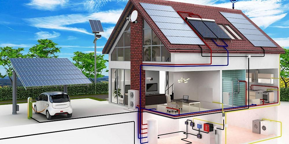 Wohnhaus Energiekreislauf